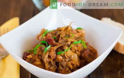 Solyanka de varza cu carne - nu este sarata deloc! Rețete solyanka cu carne și varză, ciuperci, cartofi: simple și complexe