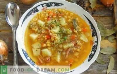 Supa de mazăre cu carne de porc este o mâncare tradițională a tuturor timpurilor. Rețete de supă de grâu bogat, bogat, cu carne de porc