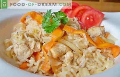Orez cu pui într-un aragaz lent - cele mai bune rețete. Cum să gătiți orez în mod corespunzător și gustos cu un aragaz lent.