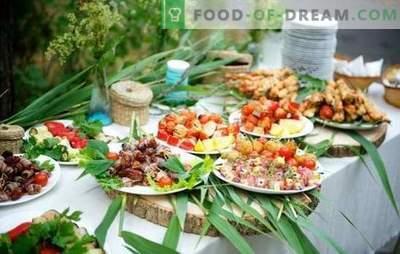 Gustări de picnic în natură - va fi distractiv și gustos! Gătit diferite gustări pentru picnic în natură pur și simplu