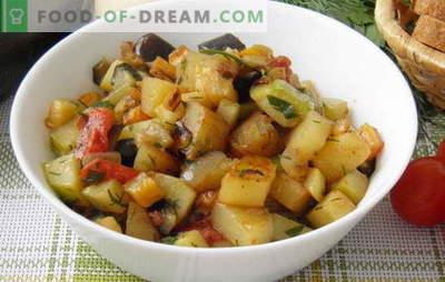 Tigaia de legume cu dovlecei și cartofi este meniul favorit de vară. Rețete de legume cu dovlecel și cartofi: efort minim