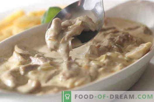 Carne în smântână - cele mai bune rețete. Cum să gătești în mod corect și gustos carnea în smântână.