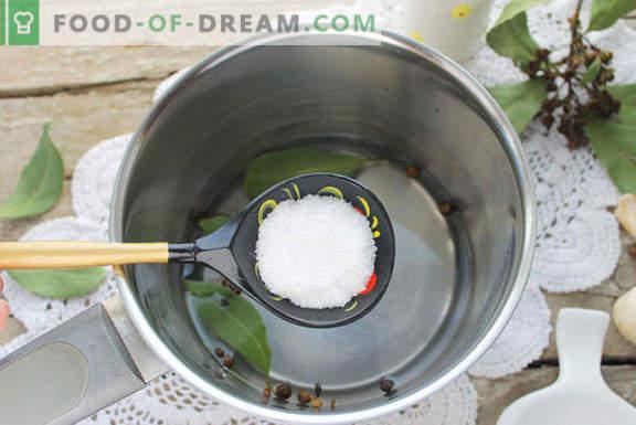 Champignons marinés maison pendant 1 jour