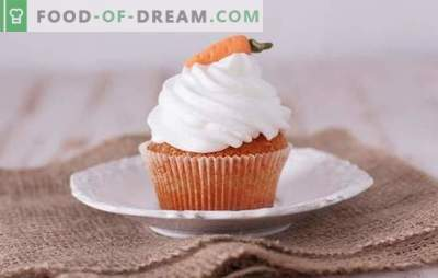 Bomboane de morcovi - produse de patiserie gustoase și sănătoase. O selecție a celor mai bune rețete pentru brioșele de morcov, dulci și sărate