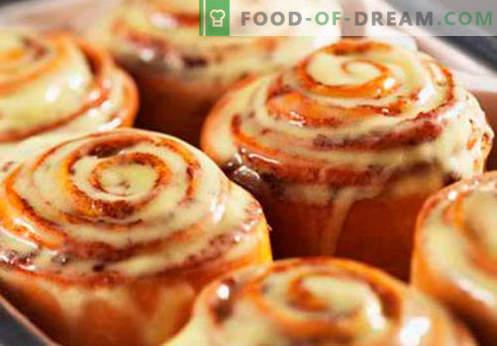 Cinnabon Buns sunt cele mai bune retete. Cum să gătești în mod corespunzător și gustos Cinnabon chifle la domiciliu