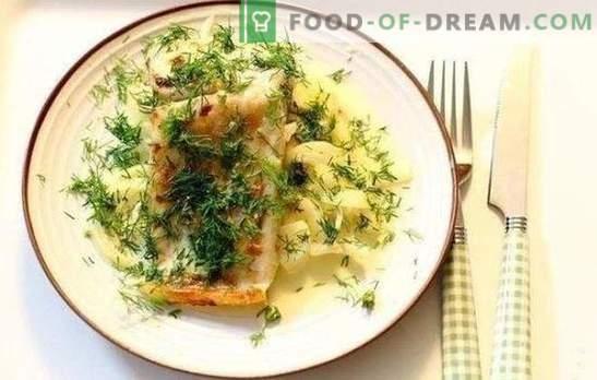 Pește în sos de smântână - un gust deosebit de feluri de mâncare pește. Rețete pentru pește coapta tocată într-o tigaie cu sos de smântână