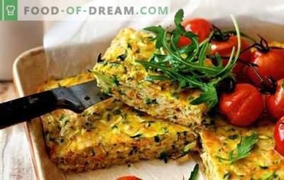 Casseroles - o cină delicioasă pentru întreaga familie. Retete pentru castraveti stingaci: din legume, ciuperci, paste, fasole, Lavash, porumb