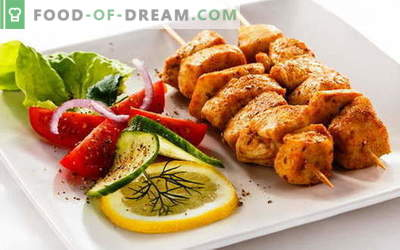 Chicken kebab - the best recipes. How to cook chicken skewers.