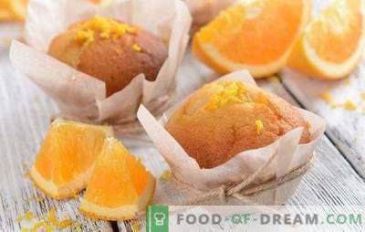 Muffins portocaliu - învesește-te! Retete pentru brioșe de portocale aromate, licitate, dulci și aerisite