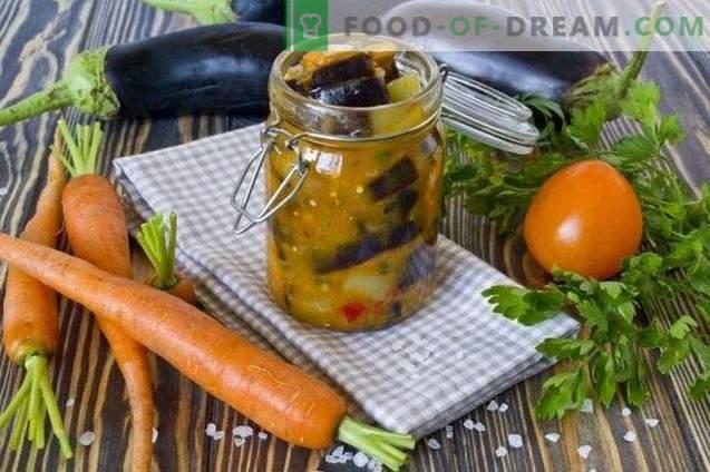 Vinete cu morcovi - salată de legume pentru iarnă