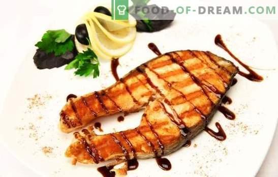 Somon la grătar: Pește nobil - gătit demn! Cu ghimbir, legume în marinada de lamaie: feluri de mâncare diferite la somon la grătar