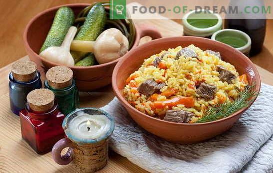 Cum să gătești pilaf într-o tigaie nu mai rău decât într-un cazan. Rețete pilaf într-o tavă cu carne, pui, legume și fructe uscate