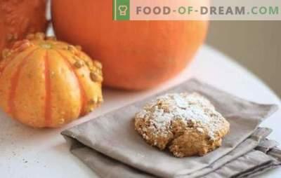 Biscuiții de dovleac sunt preferatele mele! Rețete de dovleac insorite cu stafide, fulgi, nuci, brânză
