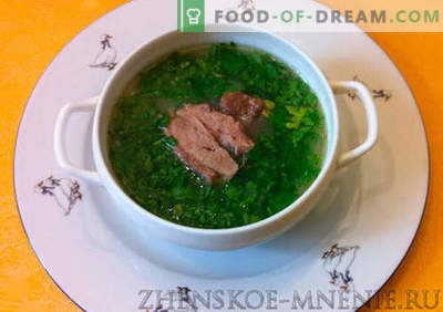 Supa de carne de vită - rețetă cu fotografii și descriere pas cu pas