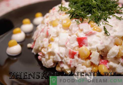 Salată de crab - Rețetă cu fotografii și descriere pas cu pas