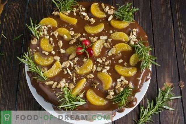 Tort de fructe cu cremă de ciocolată