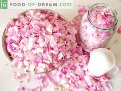 Petale de trandafir în zahăr