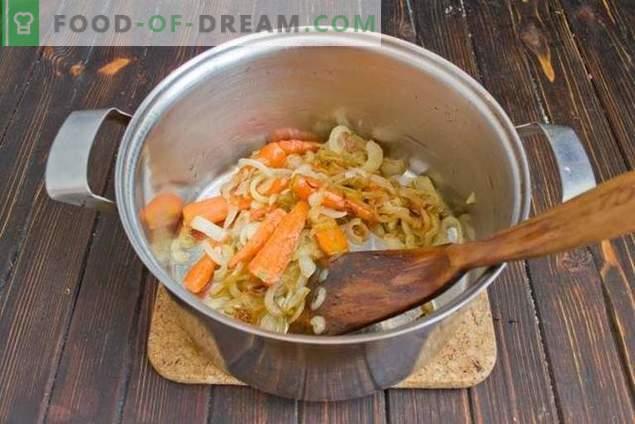Sopa de champiñones con frijoles y papas