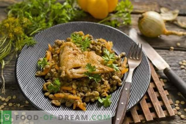 Lentilles au poulet et légumes