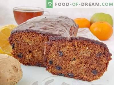 Prăjitură de ghimbir cu fructe uscate