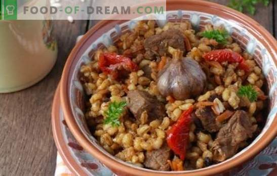 Orzul de perle crud cu carne într-un aragaz lent va întârzia întotdeauna! O masă consistentă din produse simple - rețete de orz cu carne într-un aragaz lent