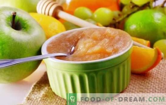 Gem de mere și de pere - bucuria de toamnă. Rețete pentru fabricarea gemului din mere și pere în diferite moduri