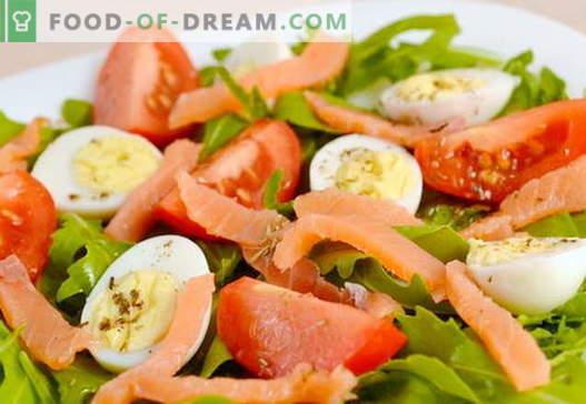 Salată cu somon și ouă rețete pentru vacanță și pentru fiecare zi
