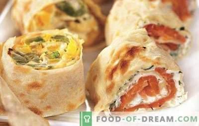 Lavash roll cu diverse umpluturi este o alternativă la canapes și sandwich-uri. Retete Lavash cu diferite umpluturi pentru fiecare gust
