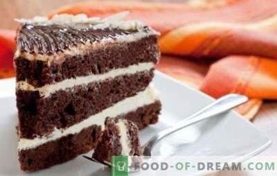 Tortul negru Prince pe kefir - un cadou pentru un dinte dulce! Variantele tortului negru Prince pe kefir cu umpluturi diferite