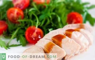 Cum să gătești un piept gătit dietetic? Retete cu piept de pui fiert: clatite, salate, caserole, placinte