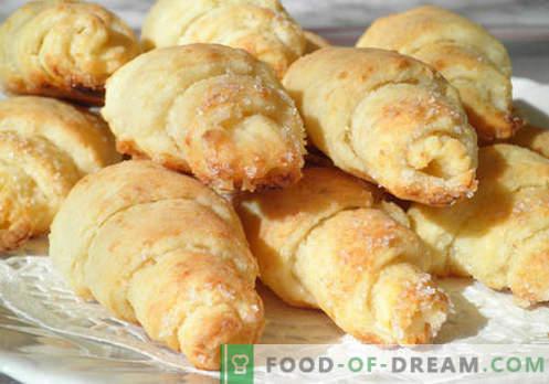 Bagele brânză de brânză sunt cele mai bune rețete. Cum să gătești corect și gustos găluște din aluat de brânză de vaci.