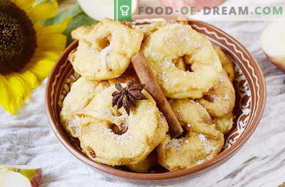 Gogoși delicioase de mere în 20 de minute. Delicatețe originale pentru copii și adulți