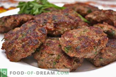 Chuletas de carne picada son las mejores recetas. Cómo cocinar adecuadamente y sabrosas albóndigas de carne picada.