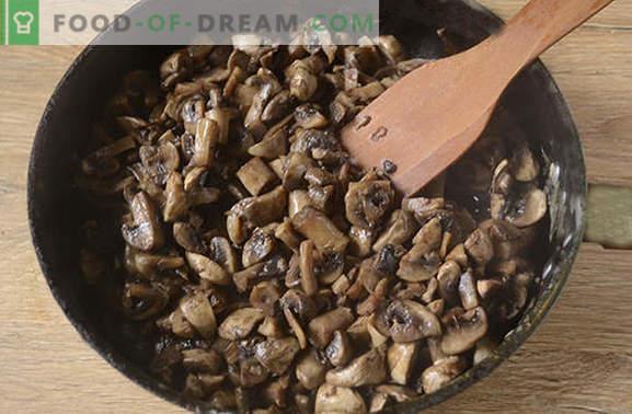 Ciuperci prăjite cu ceapă: tehnologia potrivită pentru gătit. Rețetă fotografică pas cu pas pentru gătit cu ceapă