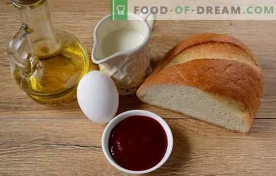 Crutoane cu lapte într-un ou: gustare în cinci minute! Cum se prepară crotonii cu lapte într-un ou: o rețetă foto pas cu pas
