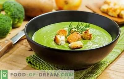Supă de cremă de broccoli - pentru sănătate, minte și figura frumoasă. Rețete pentru supe de broccoli cu smântână, brânză, pui, ciuperci
