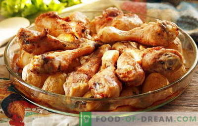 Chicken drumsticks with potatoes in the oven - favorite recipes. Cooking chicken drumsticks with potatoes in the oven in different ways