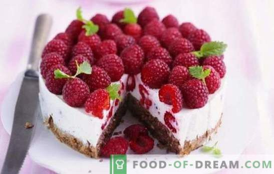 Tortul de zmeură este o tentă de vară pentru dulciuri. Rețete pentru prăjituri de zmeură: zmeură în desert - viața este bună!