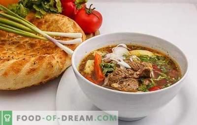 Shurpa în Uzbek este o versiune câștigătoare pentru hrănirea fierbinte. Gătit aromatizat, delicios shurpa uzbek cu miel, carne de vită