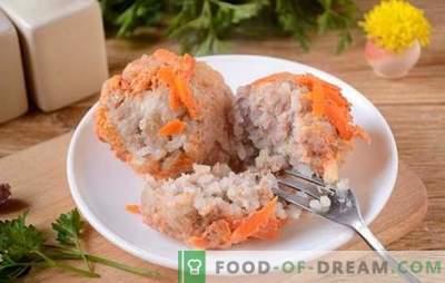 Микробли во сос од доматно-кисела павлака во бавен шпорет - ништо не е пржено! Чекор-по-чекор фото-рецепт за ќофтиња во бавен шпорет направен од мелено месо со ориз