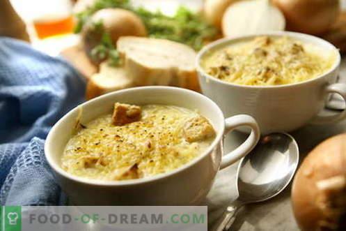 Supă de ceapă - cele mai bune rețete. Cum să gătești în mod corespunzător și gustos supă de ceapă.