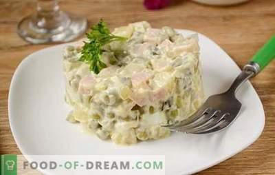 Olivier: cea mai populară salată de pe masa de sărbători! Salată clasică Olivier: o rețetă foto pas cu pas, cu secretele autorului pentru îmbunătățirea gustului felului de mâncare