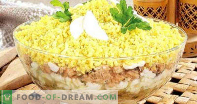 Mimosa salată rețetă conservată pas cu pas cu fotografii