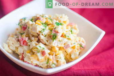 Crab salad - the best recipes. How to properly and tasty to cook a salad of crab sticks.