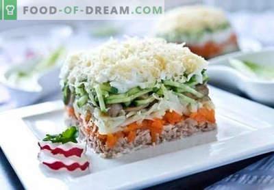 Salata de somon roz conservat - o selecție a celor mai bune rețete. Cum de a salata corect și gustoasă gătită de conserve de somon roz.