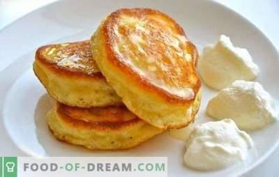 Nu există secrete - clatite simple pufoase pe iaurt. Retete pentru clatite luxuriante pe iaurt cu branza de vaci, gris, mere