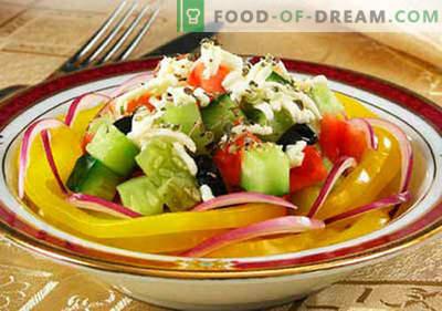 Zwiebelsalat - bewährte Rezepte. Wie man richtig und lecker einen Salat mit Zwiebeln kocht.