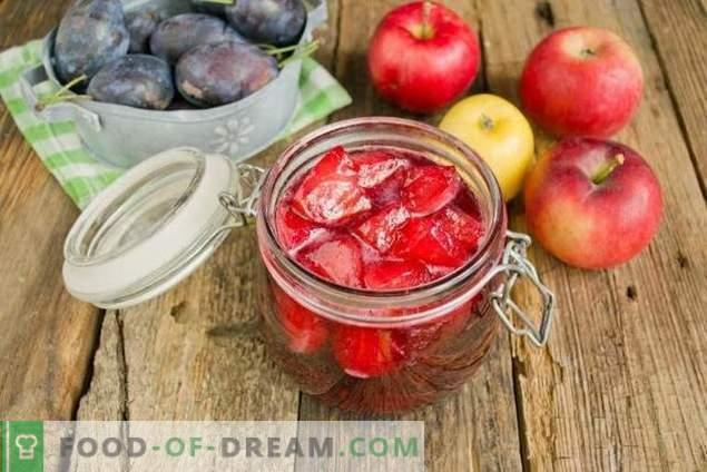 Slyvų uogienė su obuoliais žiemai
