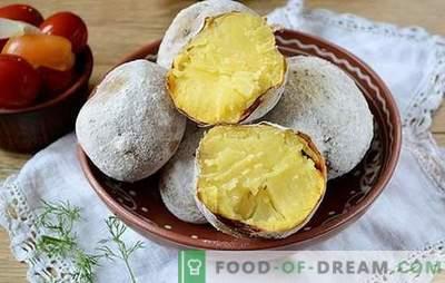 Cartofii din cuptor ca un foc de tabără: o rețetă foto pas cu pas. Când doriți cartofi de la foc, dar vremea nu are un picnic - există o soluție!