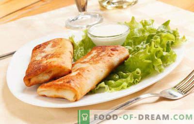 15 rețete delicioase de umplere din brânză de vaci pentru clătite